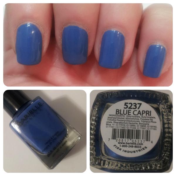 Barielle Blue Capri Swatch