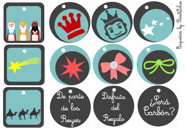 CHRISTMAS GIFT TAGS FREEBIES / ETIQUETAS PARA LOS REGALOS DE REYES FREEBIES