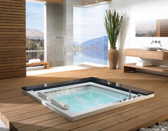 Au naturel design japanese bathtubs for Japanese bath design