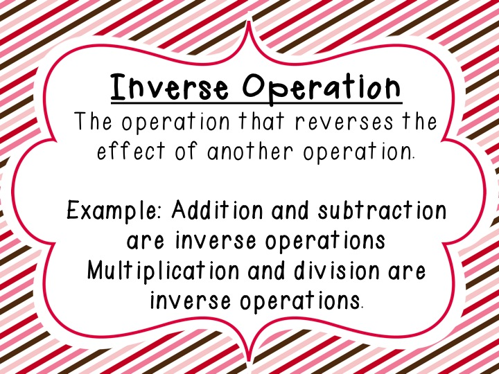 Inverse operations and one/multistep equations - ThingLink