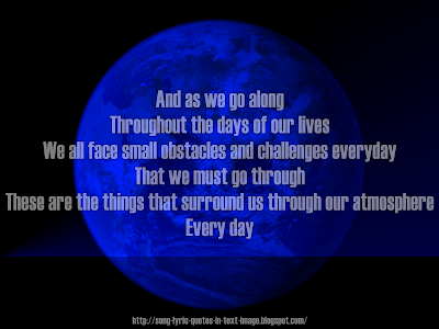 As The World Turns - Eminem Song Lyric Quote in Text Image