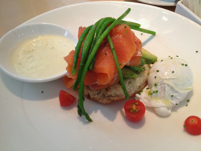 Really liked my Sauteed Crab & Watercress- 24 with Poached Organic Egg ...