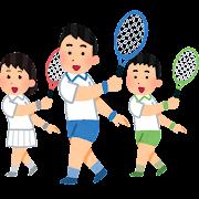 テニスのコーチのイラスト