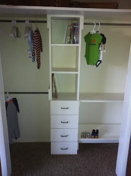 My new closet that Daddy rebuilt