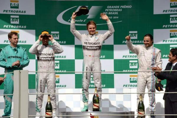 Nico Rosberg conquistó el Gran Premio de Brasil
