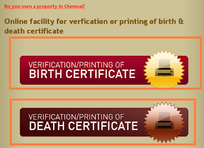 Online date of birth certificate chennai in Perth