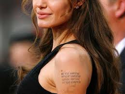 Angelina Jolie Tennessee Williams tattoo