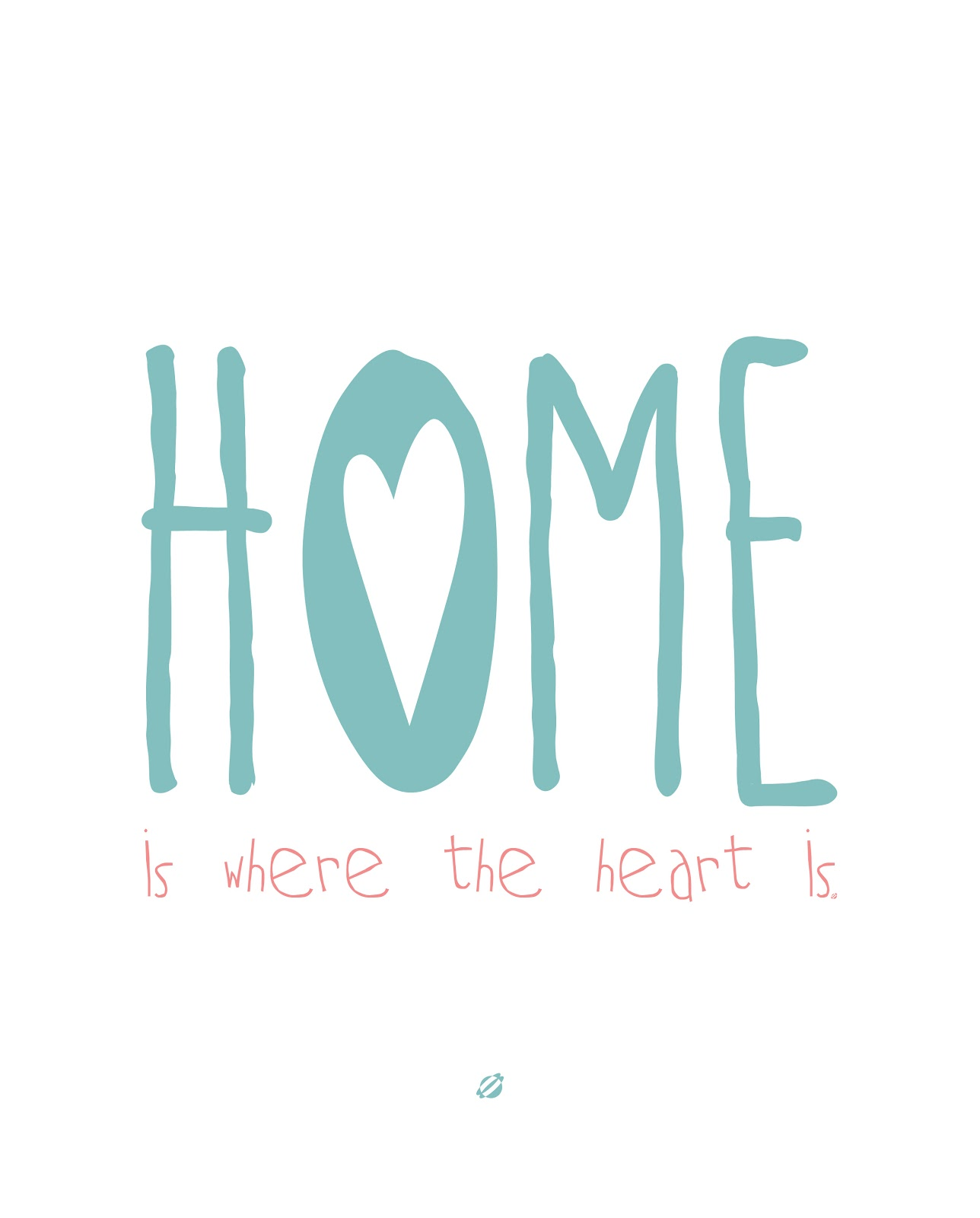 LostBumblebee ©2014 Home is where the heart is - Free Printable-  Personal Use Only.