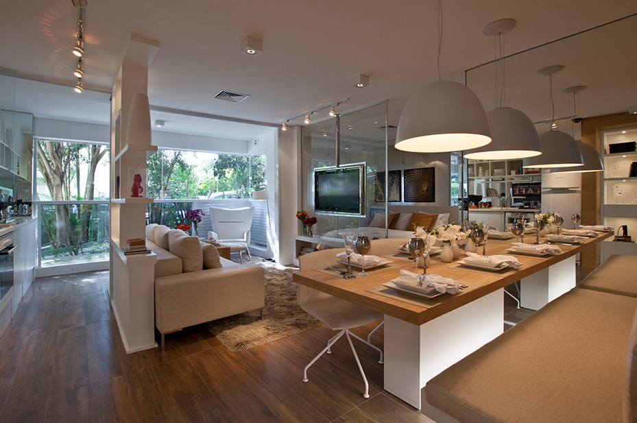 Sala De Estar Integrada Com Jantar ~  sala de jantar!  Decor Salteado  Blog de Decoração e Arquitetura