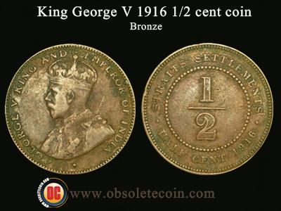 1916 1/2 cent