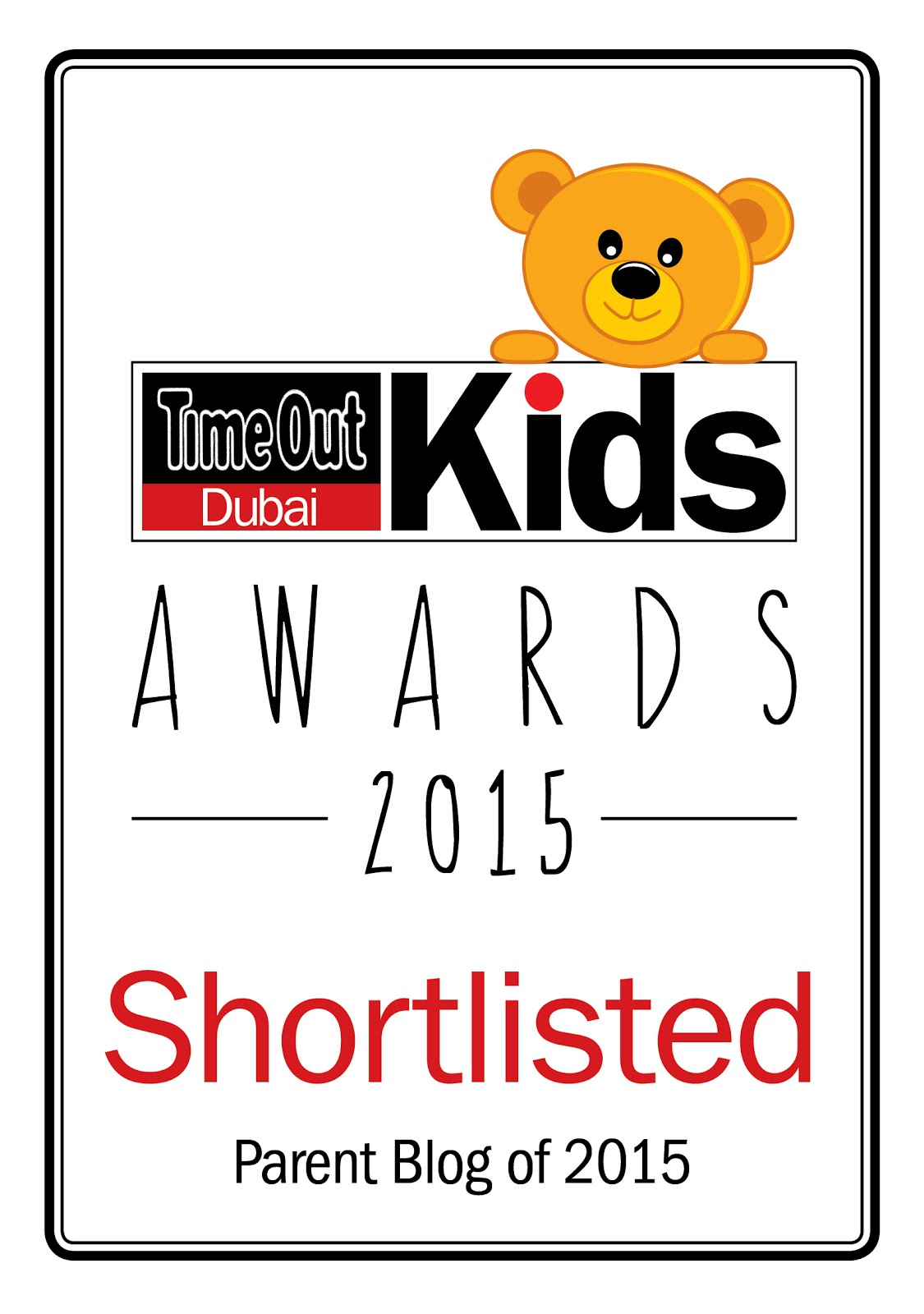Time Out Dubai Kids Awards 2015