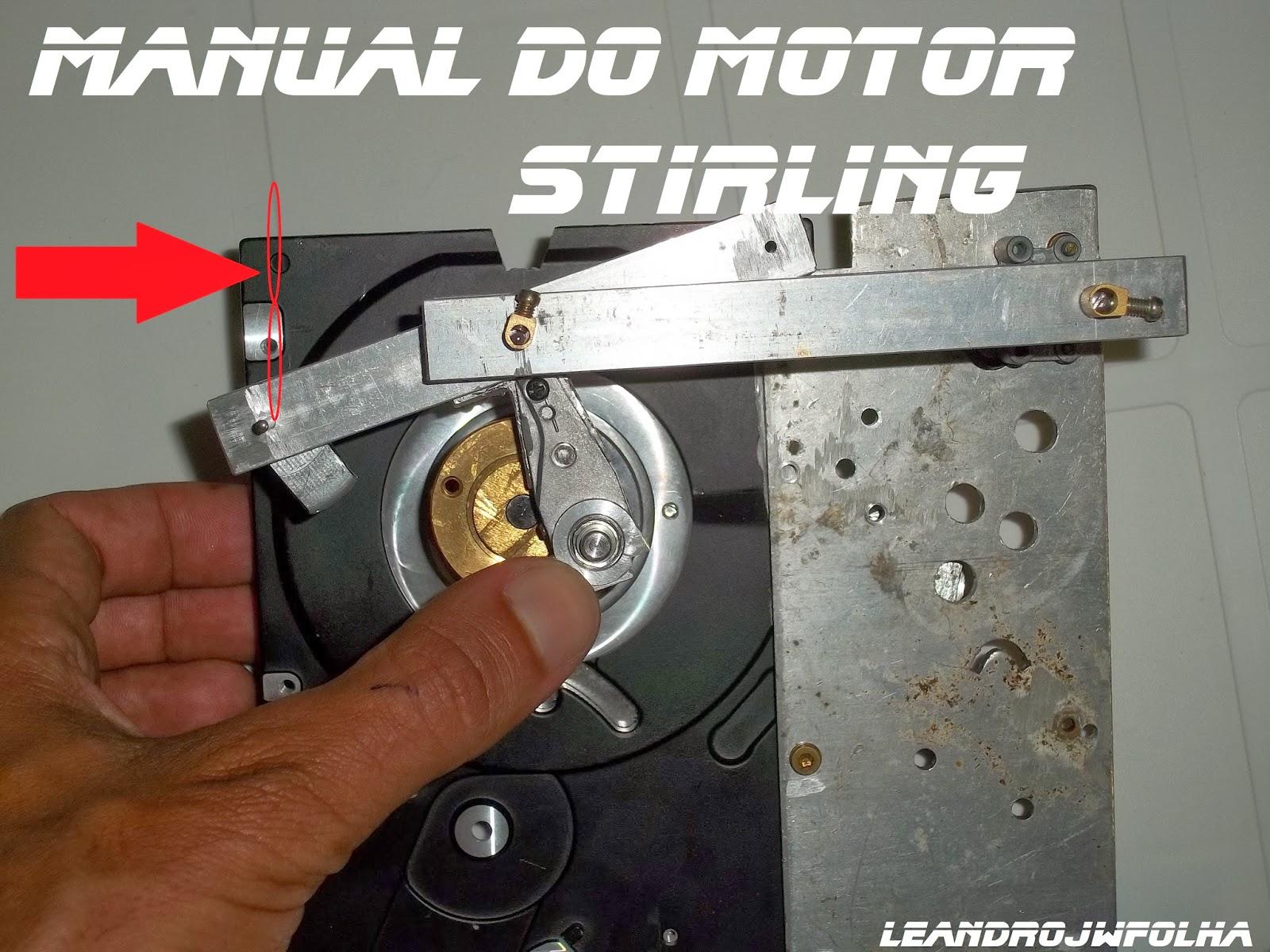 Manual do motor Stirling, desenho da trajetória