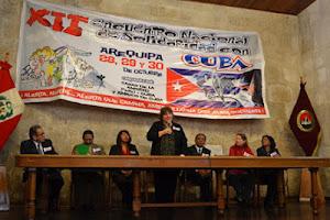 XII ENCUENTRO NACIONAL DE LA SOLIDARIDAD CON CUBA AREQUIPA - PERÚ 28, 29 y 30 DE OCTUBRE 2011