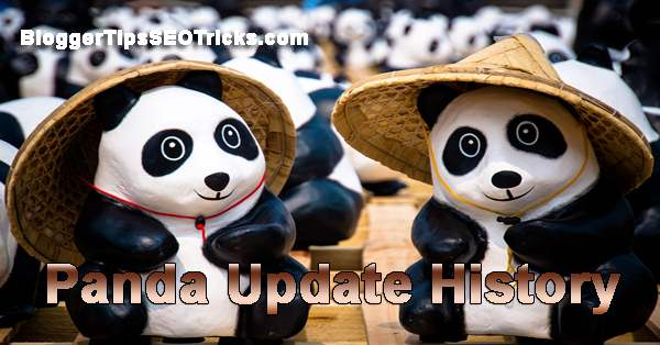 google panda algorithm update history