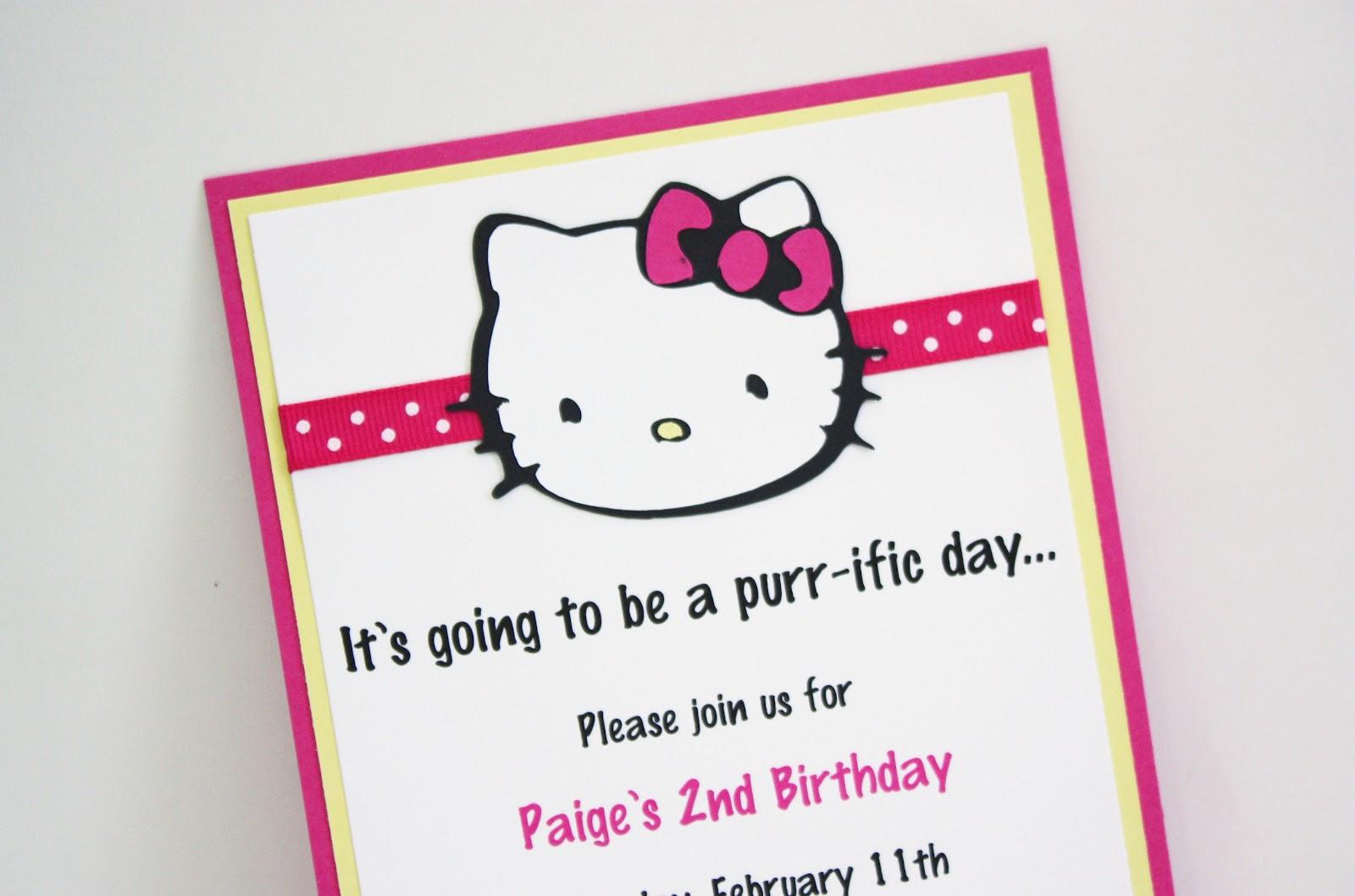 hello kitty birthday party package - Hello Kitty Party Invitations