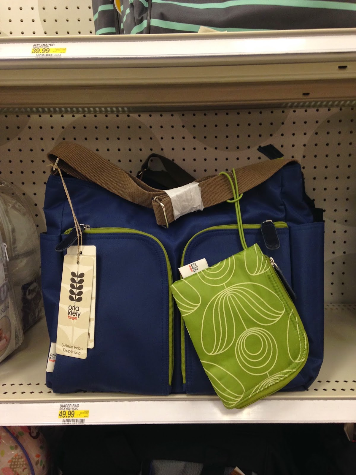 It Was Located With All Of The Other Diaper Bags Very Inconuously Placed No Prominent Display At End An Aisle Grand Orla Kiely Sign Like