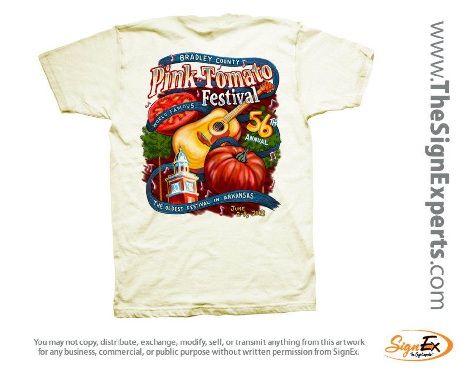 Saline river chronicle news tomato festival t shirt for T shirt design festival