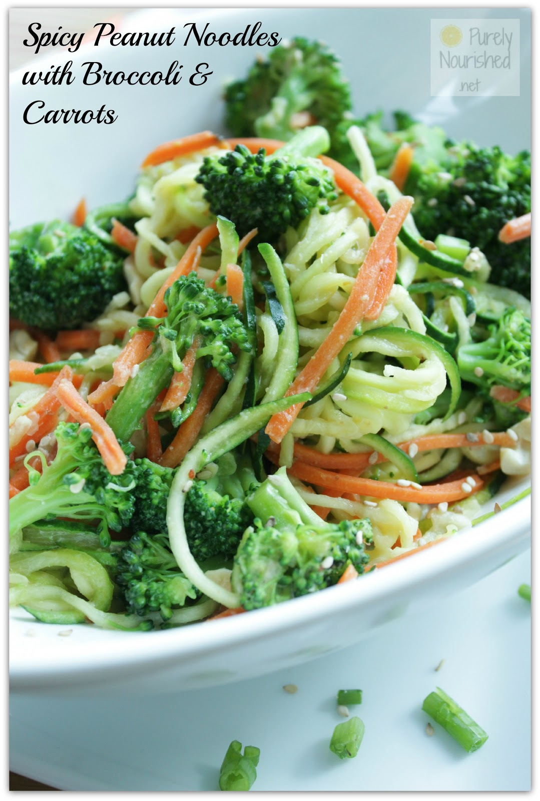 Purely Nourished: Spicy Peanut Zucchini Noodles with Broccoli and ...