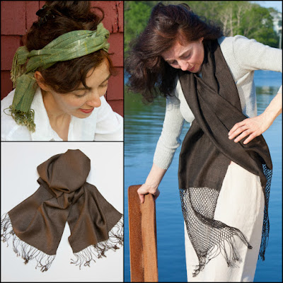 TAMMACHAT Natural Textiles' organic silk scarves