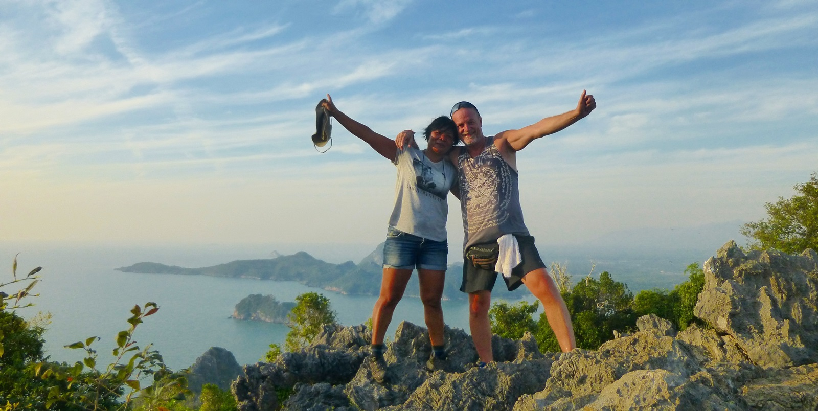 auf dem Gipfel des Khao Lo Muak