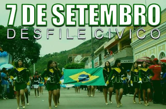 Programação das atividades em comemoração a Independência do Brasil - 7 de setembro