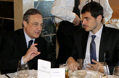 Florentino Perez and Iker Casillas having lunch