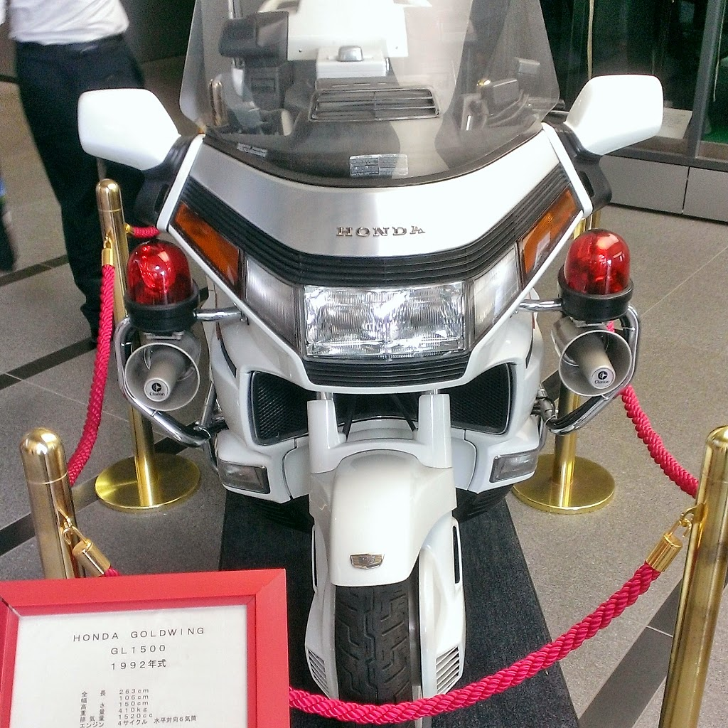 Old police bike.  This thing is a beast in size up-close