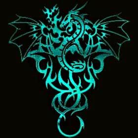 Desenhos de tatuagens de dragão tribal