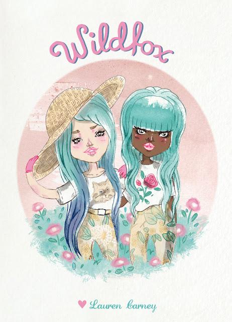 wildfox wildfoxuk models mila de witt watercolour mermaid hair girl lookbook