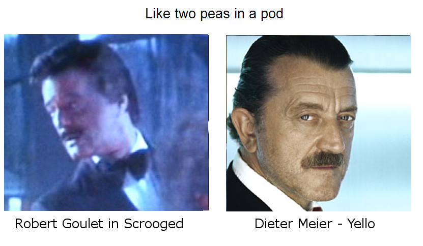 Like Two Peas in the Pod Robert Goulet and Dieter Meier