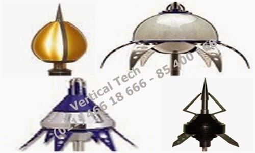 head elektrostatis,penangkal,petir,radius