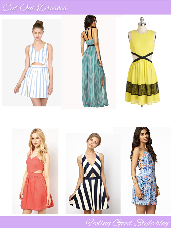 cut out dresses, forever 21 dresses, asos dresses, mod cloth dresses