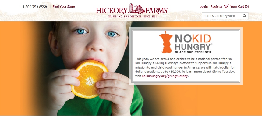 #HickoryTradition AD No Kid Hungry