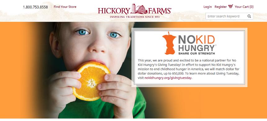 #HickoryTradition AD No Kid Hungry