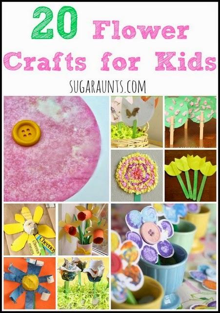 Flower crafts for kids to make