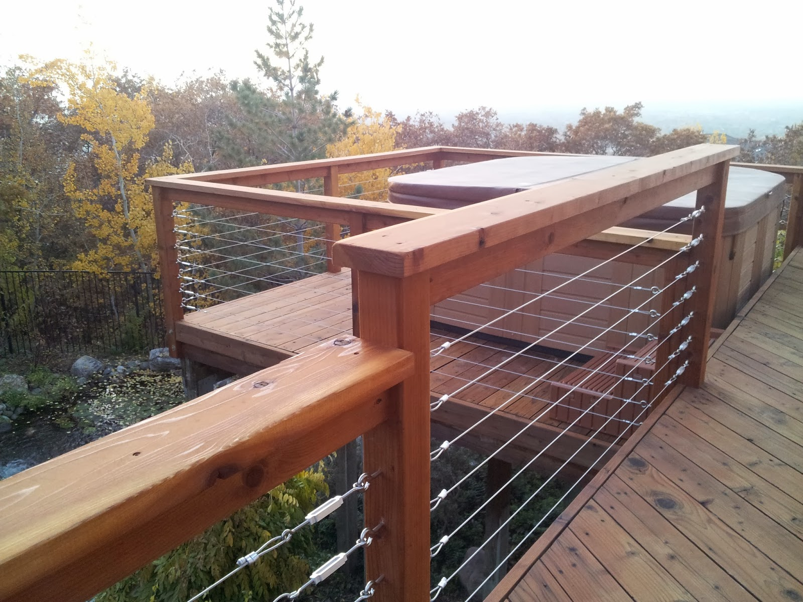 park city wood and deck stylists cable rail with deck. Black Bedroom Furniture Sets. Home Design Ideas