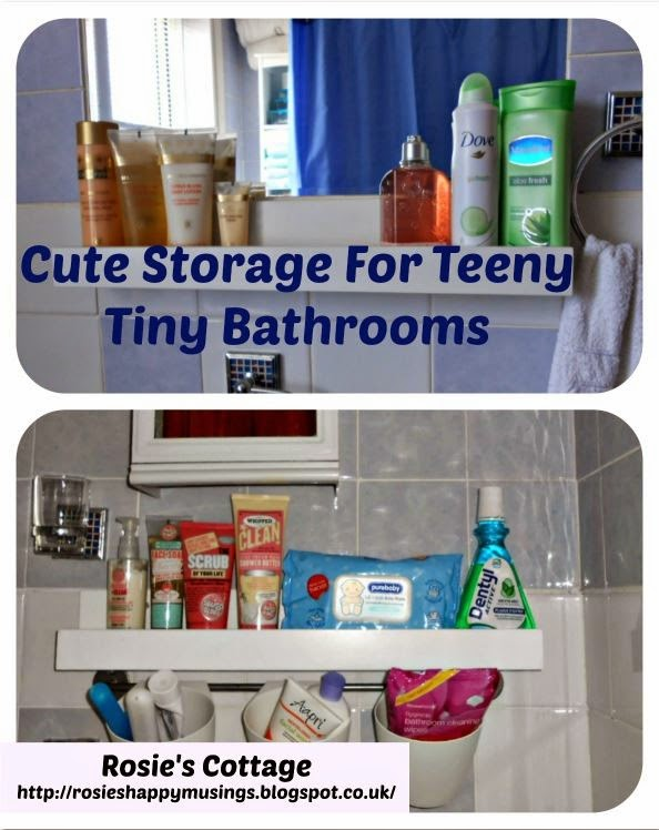 Cute Useful Storage For Tiny Bathrooms