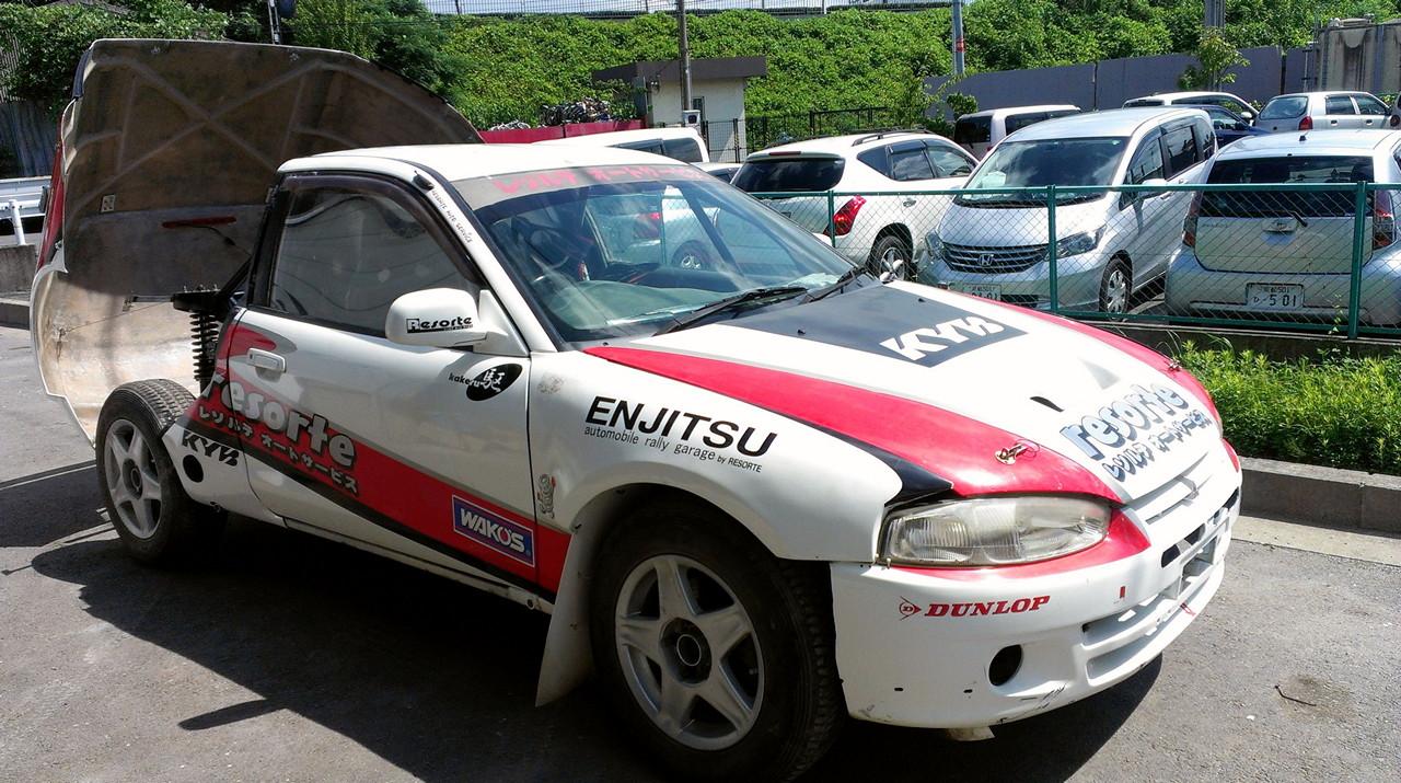 Dirt Trial Mitsubishi Mirage, Colt, CJ0, rajdówki, samochody, budowa