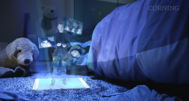 Picture of the hologram on the tablet
