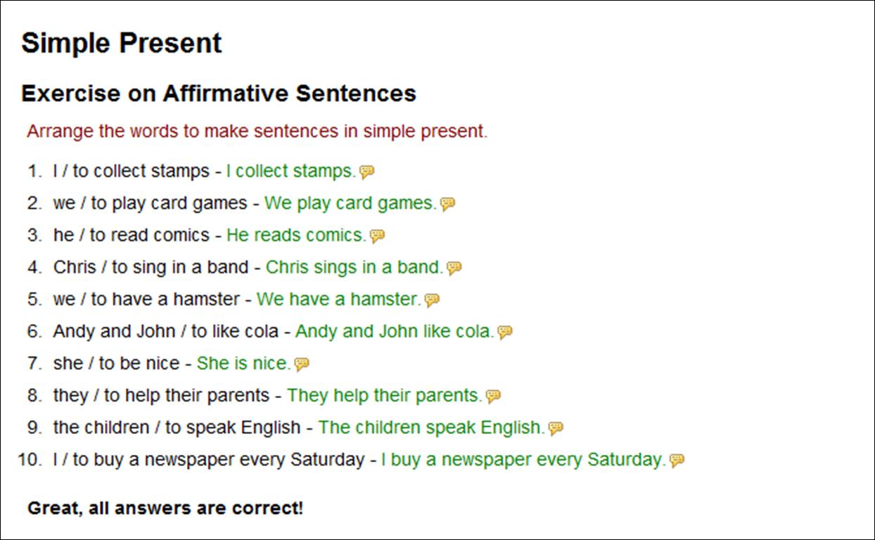 Gustavo Cueva: Simple Present...Exercise on Affirmative Sentences