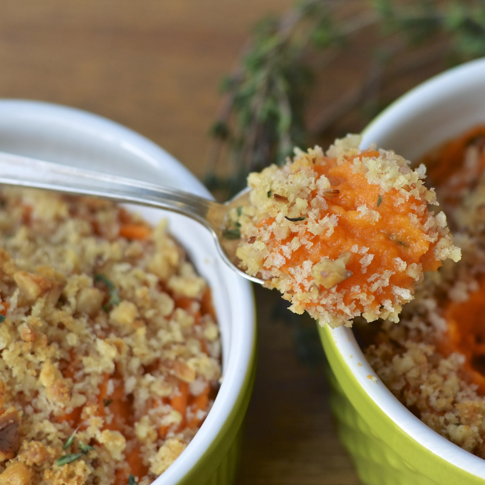 Savory Sweet Potato Casserole with Toasted Walnuts | Virtually ...