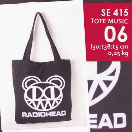 jual online tote bag kanvas murah tema music logo grup band radiohead