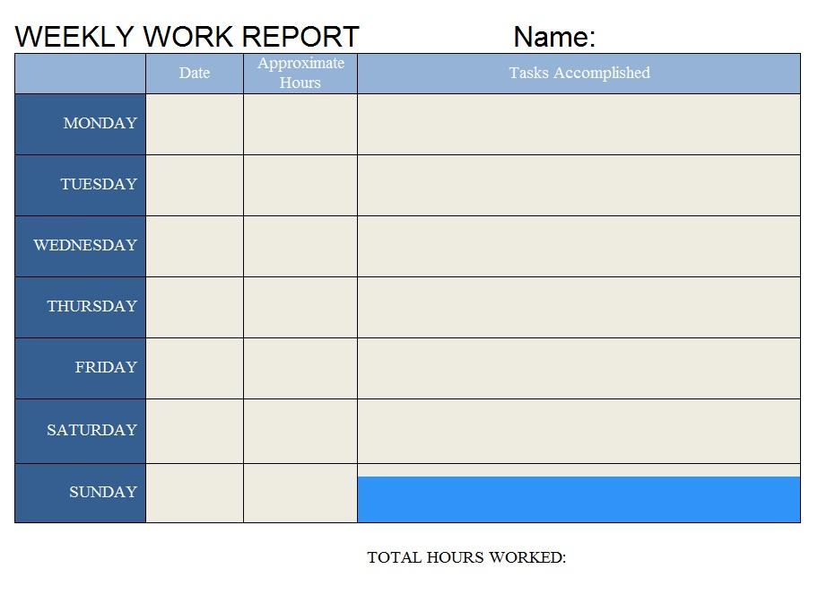 Alfa img - Showing > Weekly Work Log Template
