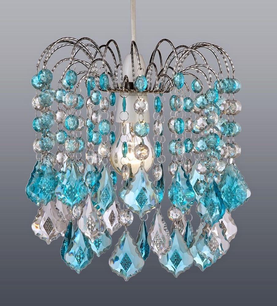 Beautiful Turquoise Light Chandelier