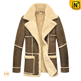 Men Vintage Sheepskin Coat