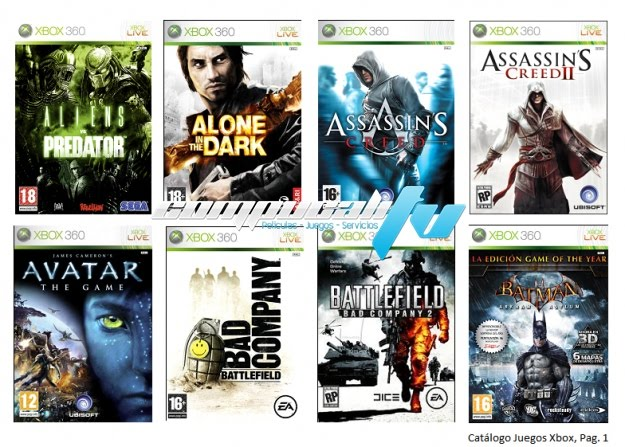 descarga de juegos xbox 360:
