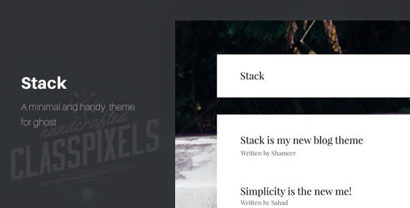 Stack - A minimal theme for ghost