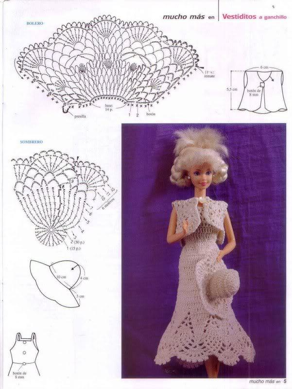 Hermosa Patrones De Tejer Muñeca Barbie Gratis Modelo - Ideas de ...