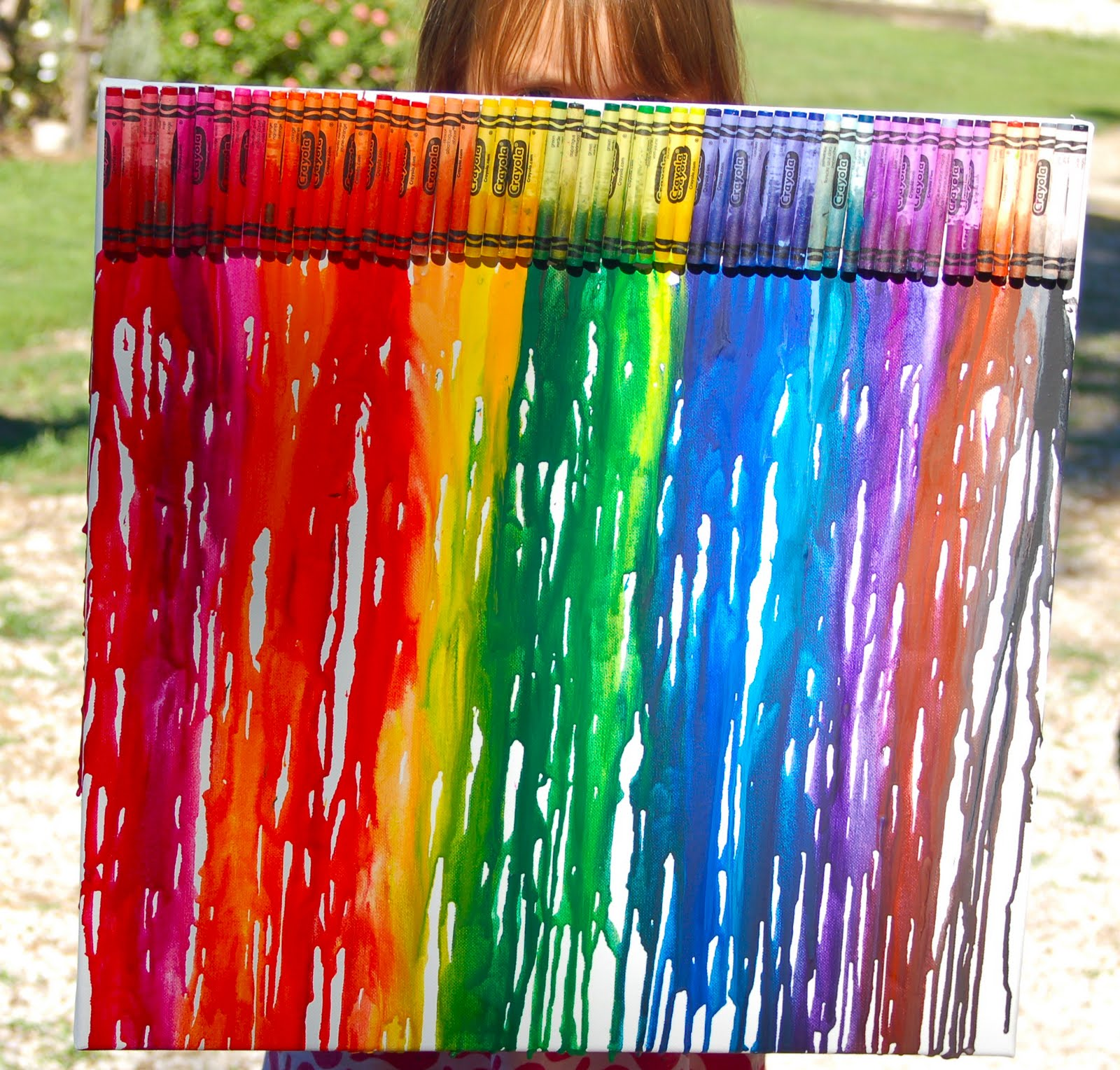 Shortiesfunnyfarm melted crayon canvas for How to make a melted crayon art canvas
