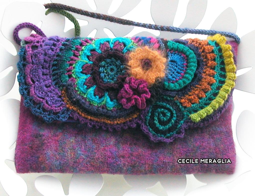Crocheting Techniques : Quelques motifs freeform pour lhabiller, tricotin pour lanse et un ...